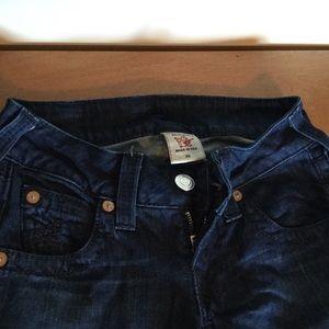 Stella True Religion 25 skinny long low rise jeans